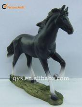 Resin Black Running Horse