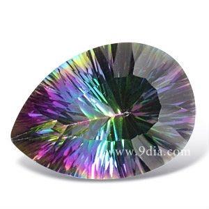 Semi preciosas piedras preciosas del Color del arco iris Natural Mystic Topaz
