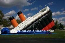 2013 vivid design amazing amusement park cheap inflatable water slides