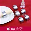 De alta calidad de acero inoxidable stel servilleta anillo conjunto/4