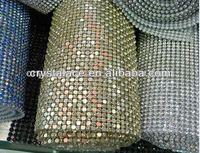 New style aluminium base rhinestone mesh