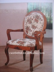 Solid wood carved arm chair&dining chair&Upholstered armchair