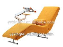 DEMNI Stylish Camel recliner chair mechanism with adjustable laptop holder