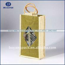 carrier holder wine jute bag