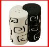ceramic pepper shaker-dolomite salt shaker-porcelain cruet