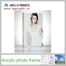 Hot sales two clear pieces acrylic photo frames
