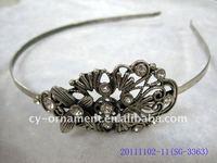 fashion alloy headband with crystal