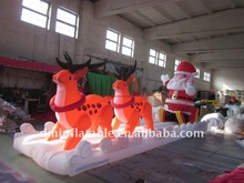 2013 New customized christmas inflatable Santa clause and reindeer