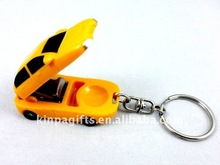 Car Shaped Nail Scissors Metal Keychain