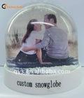 Loving Couple Photo Frame Snow Ball