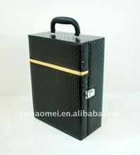 Diamond texture double bottle wine box