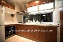 Flat style modern design kitchen cabinet
