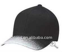 2012 new ~ black cotton flex fit baseball caps hat