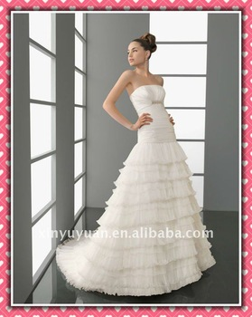 New Arrival Stylish Sexy Designer Made In Suzhou Wedding Dress Bridal Dress AIW-169