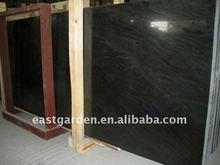 Black wood grainy cloud marble slab