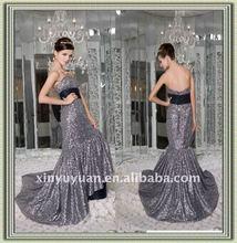 2012 Newest Vintage Sweetheart Mermaid Lace Chapel Train Ruffles Prom Dress 7441