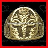 Deep engraved skull masonic signet ring
