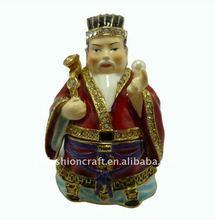 2012 New fashion Golden plated Cz Crystal Symbol of prosperity trinket jewelry box