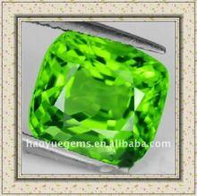 square apple green cubic zirconia glass
