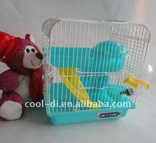 quality cute hamster crate cage made of plastic and metal KD0514011