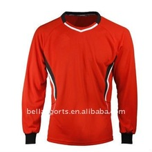 Customized long sleeves soccer jersey in blank model,oem services is acceptable