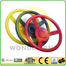 Swing frame assembling toy of steering wheel
