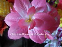 7cm red artificial silk orchid flower head