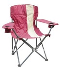 CY8065 colorful iron folding beach chair with cup holder and armrest