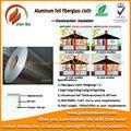 Papel de aluminio de la fibra de vidrio aislamiento contra el fuego de lana de roca