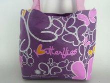 Factory purple non woven handle shopping bag