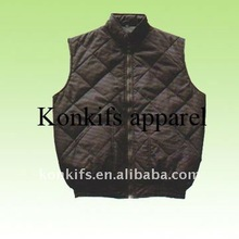 wholesale coffee high quality mens' fleece vest with zip