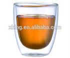 High borosilicate double wall glass tea cup /Glass coffee mug with LFGB
