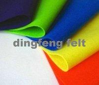 color 100% polyester felt