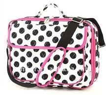 Cute White And Black Polka Dot Cosmetic Bag