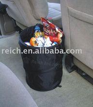 Foldable car trash can