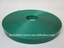 dark green polyurethane coated nylon webbing