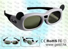 Panda white and black kids 3d cinema glasses provider