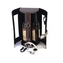 2 bottle leather wine box with transparency display window