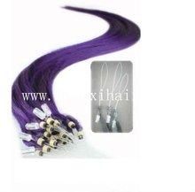 "Fashion 26"" Purple Human Hair Extension Hairpieces"
