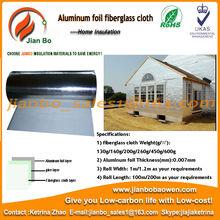 Aluminum foil coated fiberglass fabric as fireproof wall materials