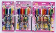 Glitter color gel pens for children