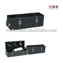 black pu leather box of wine