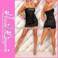 sexy negro corto del club vestidos de fiesta con lentejuelas