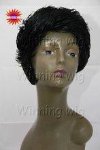 black color short style Kanekalon synthetic hair wig