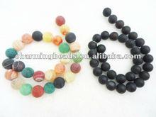 semi gemstone agate beads mixed /black color