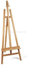Lyre Style Hard Wood Display Easel - sketch easel with folds flat for storage from China wooden easel factory supplier