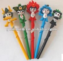 animal polymer clay pens