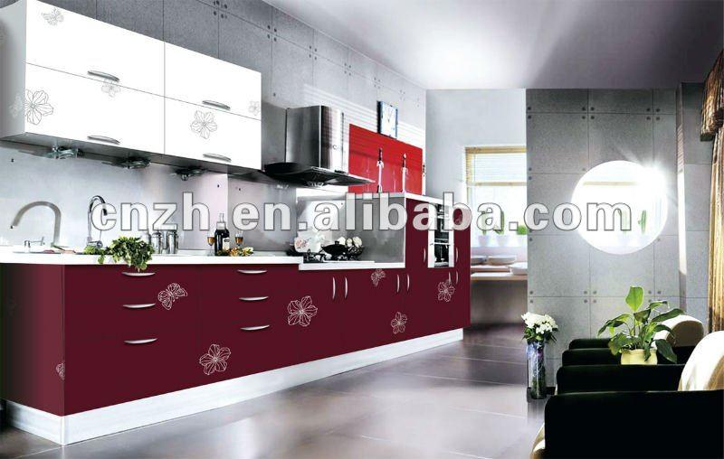 Modulaire d 39 armoires de cuisine uv haute brillant for Peinture v pour cuisine