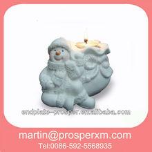 Popular christmas ceramic tealight holder decoration