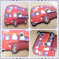 3D bus shape custom Soft rubber Fridge Magnet